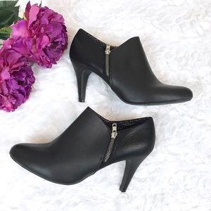 DexFlex Comfort Black Zipper Heel Booties